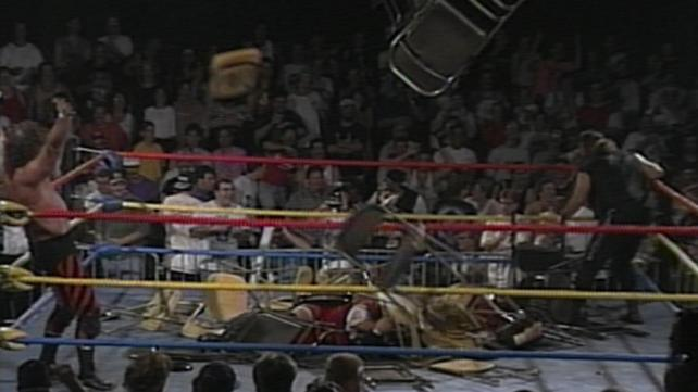 ecw chair throwing