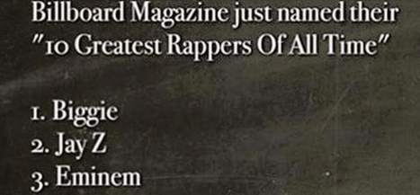 Billboard names the 10 best rappers of all time and they almost got it
